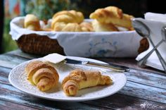Gluten free buttery crescent rolls perfect as dinner rolls or pigs-in-a-blanket. So easy, too! gfJules #glutenfree #dairyfree #crescentrolls