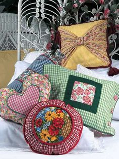 Five Fabulous Pillows  We've combined fun and functional to create these five gingham pillows. Various sizes   Free Pattern Skill Level: Easy  Designed by Beth Wheeler