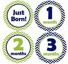 FREE GIFT Baby Month Stickers Boy Monthly by BabySmilesBoutique