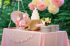 Butterfly Garden-themed 1st Birthday Party Sweets Table