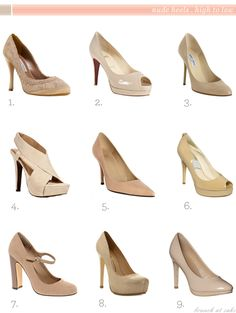 Can't get enough of nude pumps - be they strappy, platform, open-toed, sky-high, or conservatively clipped. <3