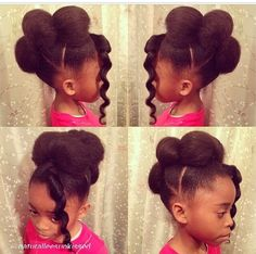 Natural hairstyles for kids !! So cute and simple ! Adults can wear this I might try it #naturalhair #naturalstyles