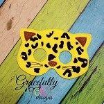 Cheetah Felt  Mask  Embroidery Design - 5x7 Hoop or Larger