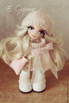 Купить Лея - бежевый, кукла ручной работы, авторская ручная работа, кукла, грунт, текстиль