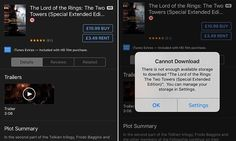 The simple trick of trying to rent a film from the iTunes store that is larger than the amount of storage space left on the iPhone will free up space on the device, according to a Reddit user.