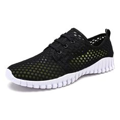 7b61331a90b6f Quick Drying Water Shoes Barefoot Mesh Aqua Shoes For Men and Women - Black  - CE180HWY0DS