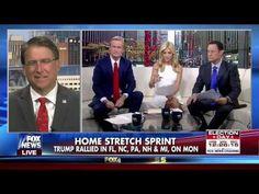 PAT MCCRORY -  INTERVIEW ON FOX & FRIENDS - FOX NEWS 11-8-2016