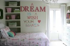 Girls Bedroom - A Dream Is A Wish Your Heart Makes
