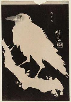 crow in snow  Kawanabe Kyosai 1833-1889 Japan
