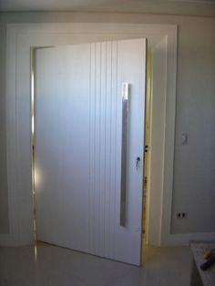 Portas brancas com friso acabamentos e decora o - Friso pvc barato ...