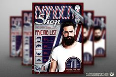 Barber Shop Flyer Template by Thats Design Studio on @creativemarket