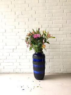 Vintage Bodenvase XL, Vase mid century, Fat Lava Vase Scheurich , German Pottery, Mid Century Keramik, vintage Interior, Vase Mid Century von moovi auf Etsy