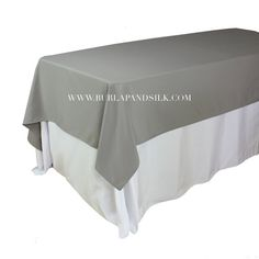 60 x 102 inches gray rectangular tablecloths for 6 ft rectangle tables weddings, events, hotels and restaurants. These premium grade grey rectangle tablecloths match our gray napkins and gray table linens. Wholesale Table Linens, Wholesale Tablecloths, Grey Tablecloths, Wedding Tablecloths, Wedding Table Linens, Burlap Chair Sashes, Burlap Tablecloth, Blush And Grey Wedding, Table Setting Inspiration