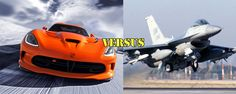 SRT Viper Races F-16 Viper Fighter Jet! Who have you got? Find out the winner here