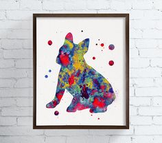 French Bulldog Art Print Watercolor French by MiaoMiaoDesign
