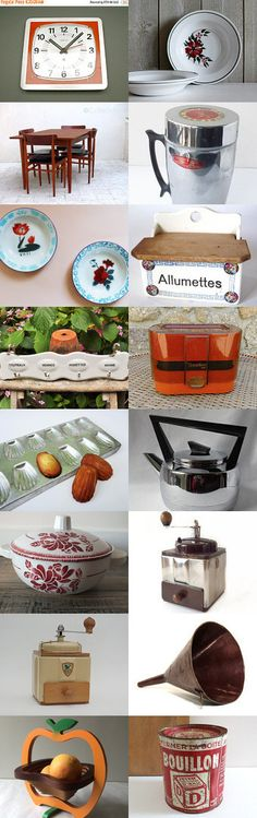 French Vintage Kitchen From the French Vintage Team by PopVintages on Etsy