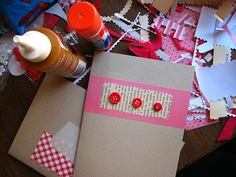 Paper scrap + book page scrap + buttons = simple and cute