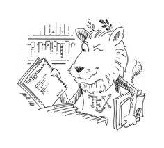CTAN lion drawing by Duane Bibby