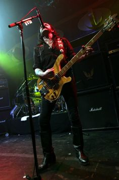 Lemmy live at Reds, Edmonton, May, 2005. Photo by Mark Marek