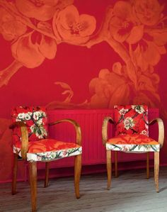 shades of red ...  Love the idea of reuse!