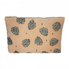 Ideally sized to fit in your handbag or to use as an evening clutch, you'll love this Elizabeth Scarlett Jungle Leaf Copper Velvet Travel Pouch Wash Bag. Made from beautiful copper coloured velvet, it has PU waterproof lining, gold zip and is ado Copper Color, Hand Illustration, Wash Bags, Pink Velvet, Travel Accessories, Pouch, Monstera Leaves, Jungles, Bali