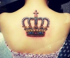 Fabulous crown tattoos ideas for girls