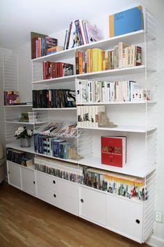stringhylla Spare Room, Bookcase, Shelves, Living Room, Interior Design, Simple, Wood, Inspiration, Room Ideas