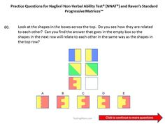 Practice questions for the Naglieri Nonverbal Ability Test (NNAT) 1st grade to 2nd grade