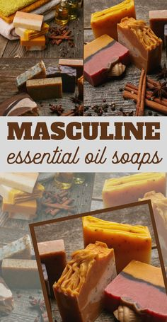 The ing oil blend is my favorite essential oil soap recipe for men because it is so easy to make and smells wonderful! Diy Savon, Savon Soap, Diy Cosmetic, Mens Soap, Essential Oils Soap, Homemade Soap Recipes, Homemade Paint, Homemade Soap Bars, Homemade Body Butter