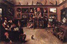1615-20, Frans Ii Francken-An Antique Dealer's Gallery-Oil on wood,genre, Galleria Borghese,Rome.