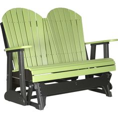 LuxCraft 4 ft. Recycled Plastic Adirondack Outdoor Glider