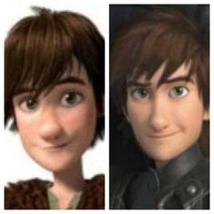 Young Hiccup and Older Hiccup- How To Train Your Dragon 2. How cute is the older hiccup?!?!