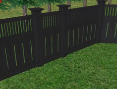privacy fence with black solid stain