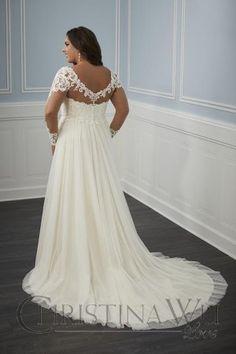 Christina Wu 29345 Long Sleeve Plus Size Bridal Gown Dresses For Big Bust, Plus Size Bridal Dresses, Plus Size Wedding Gowns, Modest Wedding Dresses, Wedding Dress Styles, Fall Wedding Gowns, Wedding Dress Sleeves, Long Sleeve Wedding, Bride Dresses