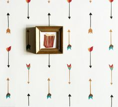 Removable Wallpaper // Multi Color Arrow by KateZarembaCompany