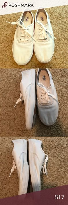 Classic White Laceup Keds Classic White Lace Up Keds - terry cloth inside. Keds Shoes