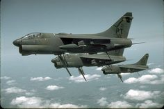 A7E Corsair II. The large flap hanging down is the speed brake.