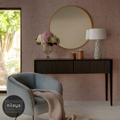Abstract and atmospheric, dramatic patterns with metallic highlights from our Nilaya Signatures II Collection are perfect as a feature wall. Decor, Wall Decor Design, Wallpaper Walls Decor, Wall Wallpaper, How To Install Wallpaper, Interior Inspiration, Asian Paints, Home Decor, Wall Coverings