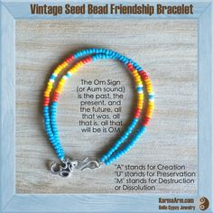 Featuring a double row of vintage seed beads, we love the hint of Southwest in our modern Friendship bracelets.  Seed Bead Friendship Bracelet + OM Charm: Light Blue