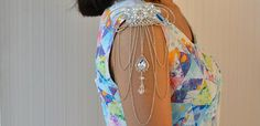 DIY Chain Jewelry - How to Make a Bead and Chain Shoulder Jewelry