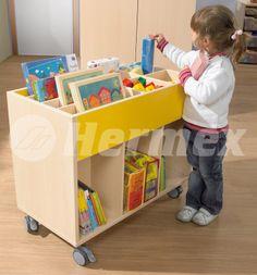 Mueble bajo para libros infantiles