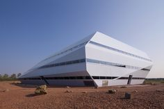Space-Age Paperless Dutch Office Resembles a Fallen Meteor