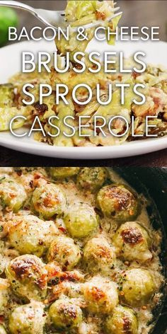 Creamy Cheesy Brussels Sprouts with Bacon Roasted brussels sprouts with crispy bacon baked in a creamy cheese sauce. Creamy Cheesy Brussels Sprouts with Bacon Roasted brussels sprouts with crispy bacon baked in a creamy cheese sauce. Side Dish Recipes, Low Carb Recipes, Vegetarian Recipes, Dinner Recipes, Cooking Recipes, Healthy Recipes, Veggie Recipes Sides, Cooking Beef, Cheesy Recipes