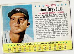 post cereal baseball cards     drysdale | garvey cey russell lopes: hello jello