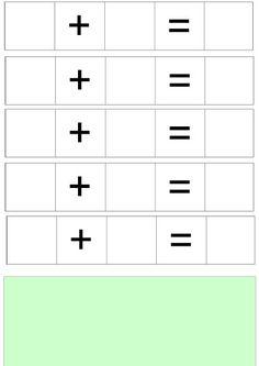Můžeme zalaminovat a používat jako mazací tabulku pro psaní stíratelným fixem, nebo přikládat a počítat předměty namísto psaní číslic. Mazes For Kids, Math Activities For Kids, School Frame, Maths Puzzles, Math Humor, Third Grade Math, School Items, Math Journals, Kids Education