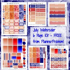 7 posts published by plannerproblem during July 2016 Happy Planner Kit, To Do Planner, Routine Planner, Free Planner, Calendar Stickers, Printable Planner Stickers, Free Printable, Printables, Watercolor Kit