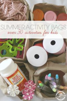 These kids activity bags are perfect for summer! With over 30 bags, you could countdown to a birthday or a family vacation - kids will love opening them!