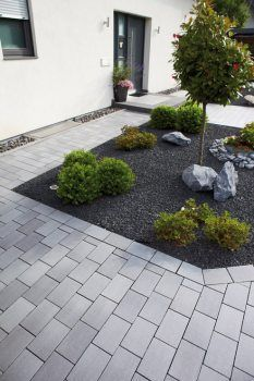 Belpasso Hauszugang 2078 15 - All For Garden Trees For Front Yard, Modern Front Yard, Front Yard Design, Front Yards, Garden Types, Jardines Del Patio Frontal, Ideas Para El Patio Frontal, Garden Cottage, Front Yard Landscaping