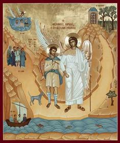 St. Raphael the Archangel Orthodox Icon » Mounted Orthodox Icons of Angels » ArchangelsBooks.com