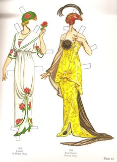 Great Fashion Designs of La Belle Époque  Paper Dolls by Tom Tierney - Dover Publications, Inc.,1982: Plate 13 (of 16)